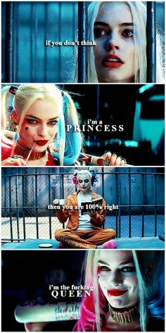 And God help anyone who disrespected the queen. (x) #harley quinn #harleyquinnaesthetic