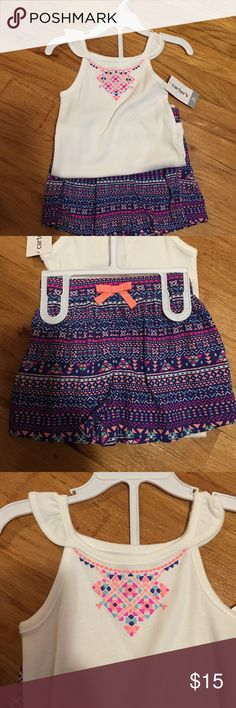 Summer outfit NWT summer outfit size 2t. Tank top and shorts from Carter's Carter's Matching Sets