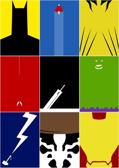 Minimalist Super Hero Posters /// by Paul Wade, via Behance