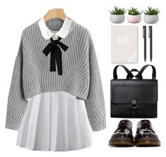 """Untitled #897"" by dolrebeca ❤ liked on Polyvore featuring Dr. Martens, WithChic, Monki and Fringe"