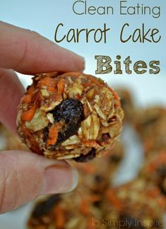 These healthy Carrot Cake Bites are a yummy treat with simple ingredients. Perfect little snack to have ready to munch on.