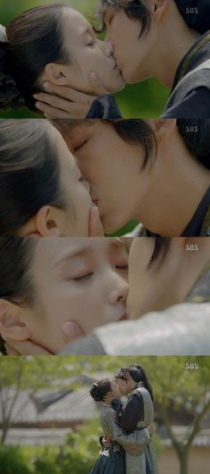 "[Spoiler] ""Scarlet Heart: Ryeo"" Lee Joon-ki and IU kiss"