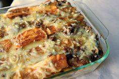 Pastelon de platanos maduros: Great Puerto Rican dish! You end up basically making your own sofrito, so you won't remotely notice a ground turkey for beef substitution. I get the lasagna analogy, but I don't care for that much cheese.