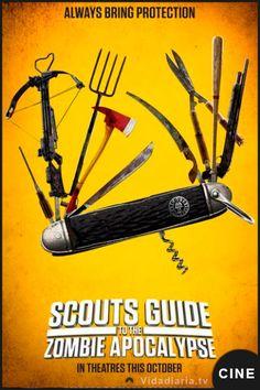 Primer vídeo y cartel para Scouts Guide to the Zombie Apocalypse