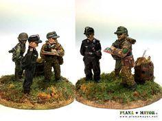 Hauptsturmfuhrer von Folkersam and his staff, SS-Panzer-Brigade, Ardennes Panzer, Hiking Boots, Battle, Ss, Coding, Programming