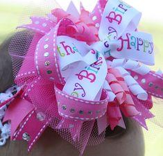 Super cute birthday bow