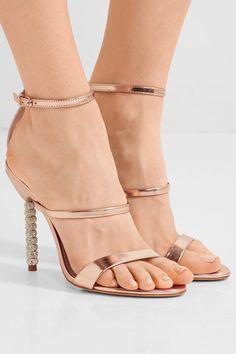 Sophia Webster - Rosalind Crystal-embellished Metallic Leather Sandals - IT39.5