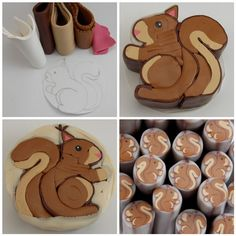 Polymer Clay squirrel cane