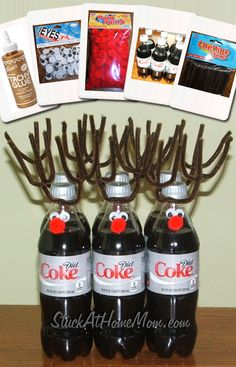 Quick Reindeer Gift Idea [6 pack of Soda or Beer] | StuckAtHomeMom.com