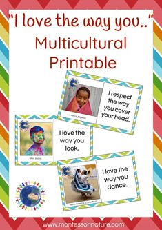 Multicultural Activities, Kids Learning Activities, Toddler Activities, Montessori Preschool, Primary Resources, Everyday Activities, Character Education, Inspiration For Kids, Diversity