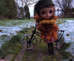 Mildred with her retro bike