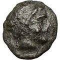 AMPHIPOLIS 410BC Male Head & Race Torch Symbol of hope Ancient Greek Coin i24824