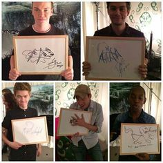 The guys drawings of grievers<< Thomas looks so disappointed in his.