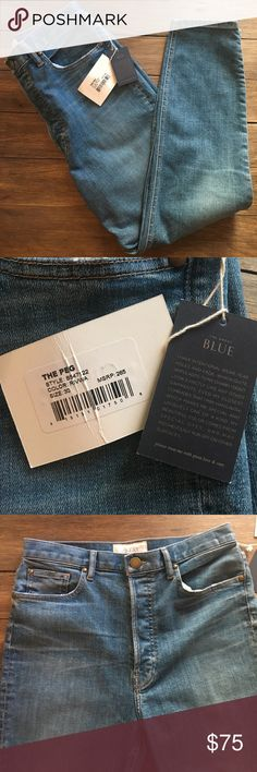 """The Great. The Peg Jeans size 30 NWT If you're not familiar with the Great.  It is a new line by the same gals that started Current/Elliott.  Amazing stuff! Grab these """"Peg"""" jeans at a steal!  High waisted, button up, and Made in the USA!  Size 30 and fit TTS THE GREAT. Jeans"""