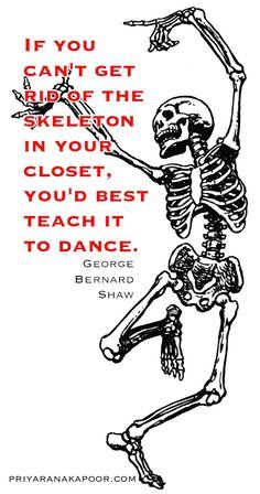 Skeletons - George Bernard Shaw - Priya Rana Kapoor - Life Coach and Author