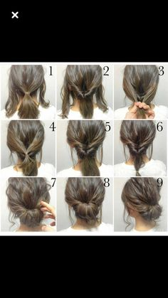 Quick and easy tutorial on a Chignon-even if you want it Messy-check this out!!