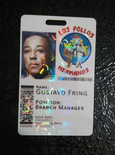 Los Pollos Hermanos Breaking Bad Novelty Cosplay ID Badge Card--  This is a novelty Los Pollos Hermanos (Breaking Bad) Novelty Cosplay ID Badge