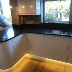 Nero Stella Black Quartz - London - Rock and Co Granite Ltd Black Quartz, Granite, Kitchen Cabinets, London, Rock, Home Decor, Decoration Home, Room Decor, Granite Counters