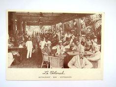Le Colonial Black White Postcard Restaurant Bar Vietnamien NY Chicago San Fran
