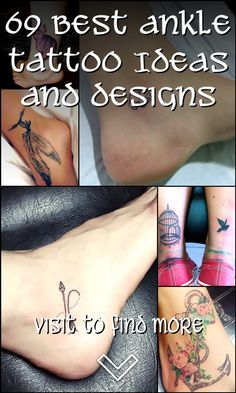 69+Best+Ankle+Tattoo+Ideas+and+Designs Ankle Tattoo Small, Ankle Tattoos, Modern Tattoos, Tattoo Parlors, Get A Tattoo, Tattoo Quotes, Body Art, Tattoo Ideas, Design