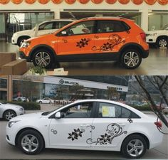 Butterflies Pattern Design CAR VINYL SIDE GRAPHICS DECALS N - Decal graphics for cars