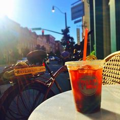 Perfect day for an iced coffee and a bike ride through Savannah!