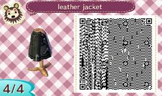 "kayliesaurusrex: ""i couldn't really find a leather jacket qr code i super liked, so i made my own. """