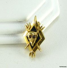 MYSTERY FRATERNITY - 14k Gold Devil SECRET SOCIETY PIN
