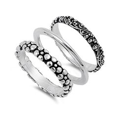 Bali Set  Ladies Band Sterling Silver .925 Ring Fashion High Quality Jewelry  #Band