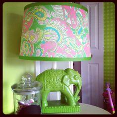 DIY elephant lamp an