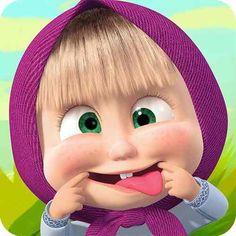 الفيديو السوري حول العالم: Happy Birthday song for kids with Masha Cartoon Gifs, Bear Cartoon, Cute Cartoon Wallpapers, Girl Cartoon, Cartoon Characters, Cute Cartoon Pictures, Funny Pictures, Masha Et Mishka, Marsha And The Bear