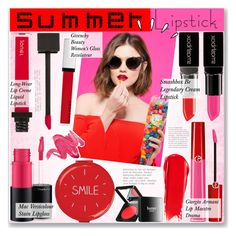 """""""No 414:Pink and Red"""" by lovepastel ❤ liked on Polyvore featuring beauty, Giorgio Armani, MAC Cosmetics, Smashbox, NARS Cosmetics, Jouer, Givenchy, Wild & Wolf, Butter London and Stila"""