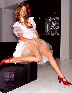 Natalia Vodianova in 'Eyes of Seduction' for Vogue Nippon, January 2002.
