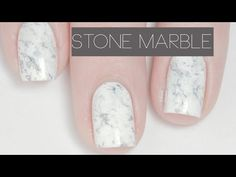 Stone Marble | Nail Art - YouTube Water Marble Nail Art, Marble Nails, Acrylic Nails, Minimalist Nails, Pedicure Nail Art, Manicure And Pedicure, Love Nails, Pretty Nails, Stone Nail Art