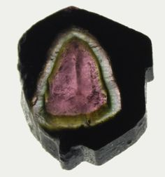 Tourmaline from Madagascar (photo by Renate Surh) aw yeah! Look at that shape! Minerals And Gemstones, Crystals Minerals, Rocks And Minerals, Cool Rocks, Beautiful Rocks, Gem Stones, Stones And Crystals, Crystal Magic, Watermelon Tourmaline