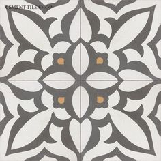 Cement Tile Shop - Handmade Cement Tile | Zebra Charcoal