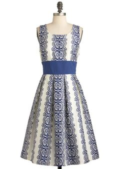 blue snowflake inspired dress. perfect for the holidays!