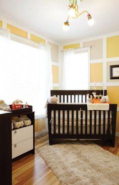 Chambre de bébé lumineuse et amusante avec jeu de couleurs douces et énergisantes - Maison Expo HABITAT 2013 Expo Habitat, 2013, Cribs, Bed, Furniture, Home Decor, Color Schemes, Comfort Colors, Nursery