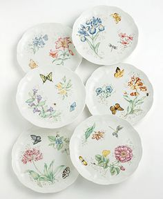 Lenox Dinnerware, Butterfly Meadow Dinner and Salad Plates - Lenox Dinnerware - Dining & Entertaining - Macy's