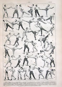 Boxing Print Antique French Dictionary Engraving 1908 Larousse. $15.00, via Etsy.