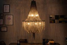 Żyrandol Glamour czarny / 39110 | Meblowy Sklep Internetowy ... Lamp Design, Lighting Design, Interior Decorating Styles, Interior Design, Vanitas, Lucca, Light Decorations, Copenhagen, Interior Architecture