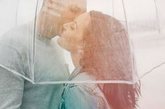 Dreamy Rainy Engagement Photos: Sarah + Ryan captured by Stephanie of This Modern Romance - via greenweddingshoes