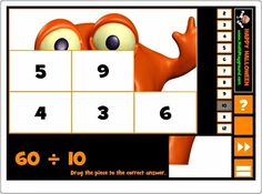 """""""Halloween puzzle division"""" es un juego en el que hay que componer un puzzle situando cada pieza en el número que es resultado de una división dada. Se pueden elegir divisores desde el 2 hasta el 12 por lo que pueden jugar alumnos desde 3º de Primaria hasta 6º."""