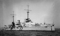 "SMS Von Der Tann, the first German battle-cruiser, a ""better armored response"" to the first British battle cruiser, HMS Invincible."