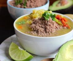 Sopa de Arroz con Carne en Polvo (Rice Soup with Powdered Beef)|mycolombianrecipes.com
