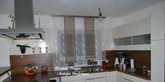 Dezenter Stufen Schiebevorhang für die Küche - http://www.gardinen-deko.de/dezenter-stufen-schiebevorhang-fuer-die-kueche/