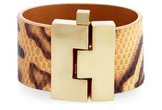 Wide Jigsaw Bracelet, Leopard Lizard on OneKingsLane.com