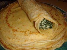 Masa panqueques para canelones Masa Recipes, Mexican Food Recipes, Ethnic Recipes, Crepes, Paraguay Food, Healthy Foods To Eat, Healthy Recipes, Waffles, Vegetarian Cooking