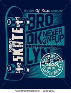 Skate board vector and t-shirt graphics design