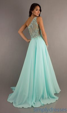 One Shoulder A-Line Dress, Tiffany Prom Dresses - Simply Dresses